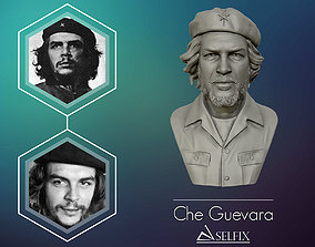 Che Guevara 3D Portrait Sculpture