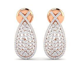 Women earrings 3dm stl render detail printable studs