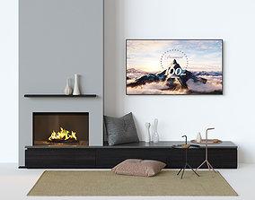 coal Fireplace set 3D