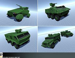 3D asset Stylized Technics - MRAP Set