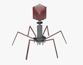 Bacteriophage Virus 3D asset