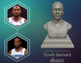 Kawhi Leonard 3D portrait sculpture ready to 3D print