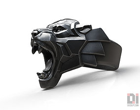 Black Panther leopard roaring animal ring 3D print model