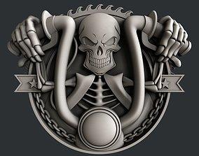 3dmodel 3d STL models for CNC skull motorcycle