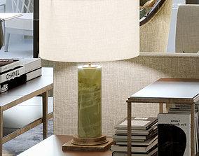 3D model stone lamp table-lamp