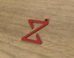 Z keychain 3D print model