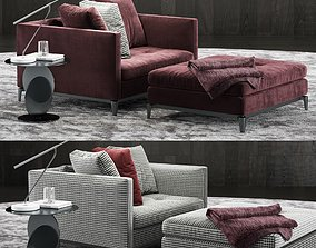 3D model Minotti Andersen Lovechair 2