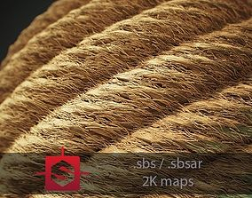 Rope Tileable PBR Material 3D