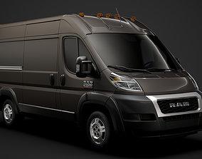 3D model Ram Promaster Cargo 2500 HR 136WB 2020