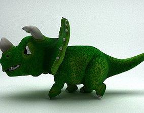 3D model Rigged and Animated Cartoon Dinosaur