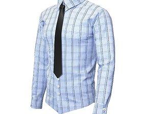 3D model Men Shirts with Tie
