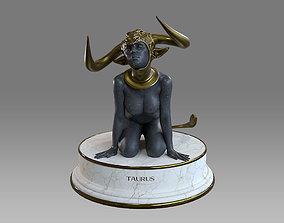 3D model VR / AR ready Zodiac Sign Female Taurus