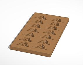 3D printable model chocolate christmas trees