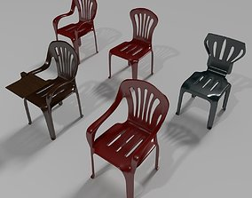 Plastic Chairs Collection 2 3D model