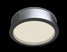 3D asset Round modern ceiling light fixture 3