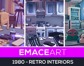 SUMMER UPDATE - 1980 - Retro Youth Room 3D Mid low-poly