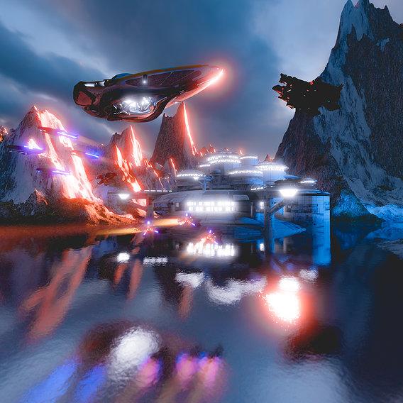 Sci-Fi Mountain