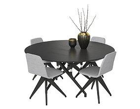3D model Table Potocco Italy Torso 837-T4W and chair Torso