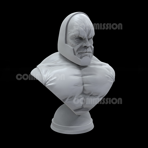 Darkseid 3D sculpture