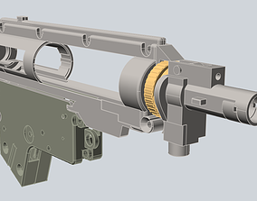 3D printable model GEARBOX v2 with permanently mounted 3