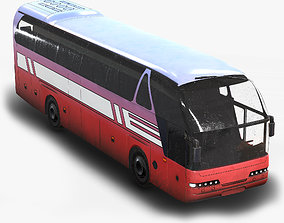 Tourist Bus Low Poly 3D model