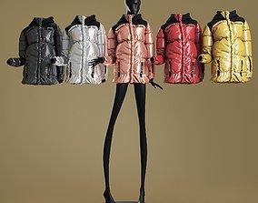 3D Mannequin6014 coll60 metallic puffer coat