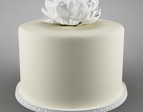 3D Cake 29 with flower