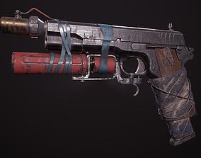 3D asset Colt-1911-post-apocalyptic Pistol
