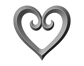 3D printable model Heart shaped decoration element relief