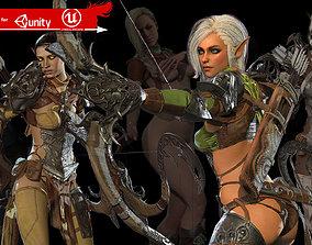 Elf girl 3D asset