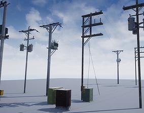 3D model Utility Poles