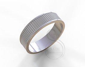 3D printable model Thread wedding ring