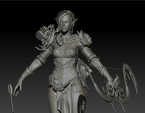 3D model Elf girl high poly