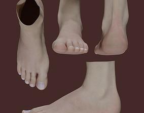 3D model Woman Foot