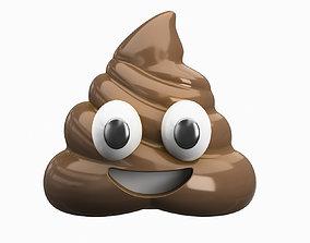 3D model phone Emoji Pile of Poo