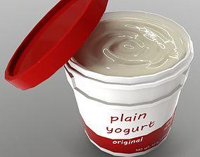 3D asset Yogurt