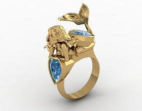 3D printable model little mermaid ring