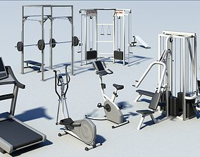 Gym equipment 3D model unix2