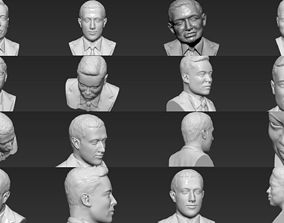 Most Influential People busts 3D printing