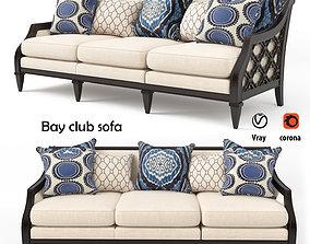 3D model Bay club sofa