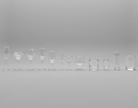 wineglass alcohol 3D model