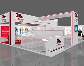 Exhibition stall 3d model 10x8 mtr 2sides open 2
