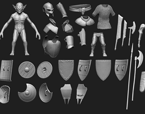 3D High Poly Goblin Warrior Pack - 29 items