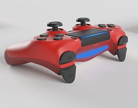 Sony PlayStation 4 DualShock Controller Magma Red 3D