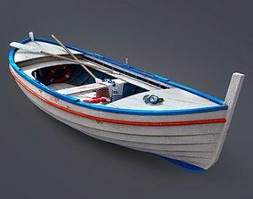 3D model Wooden boat beach