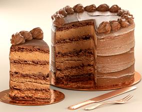 Milk Chocolate Cake 3D