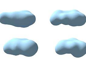 3D model Clouds 4