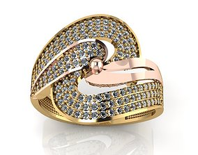 3D printable model ring stone 127