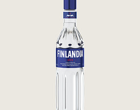 3D asset Finlandia Original Classic 101 Bottle Vodka Of