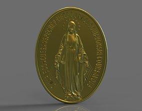 Virgen Milagrosa Miraculous Medal 3d stl model medal